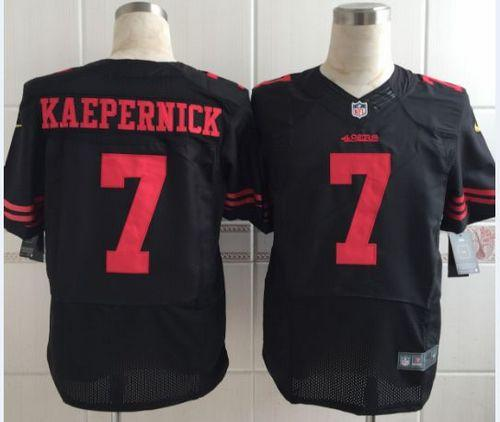 more photos eb74a 15270 Nike 49ers #7 Colin Kaepernick Black Alternate Men's ...