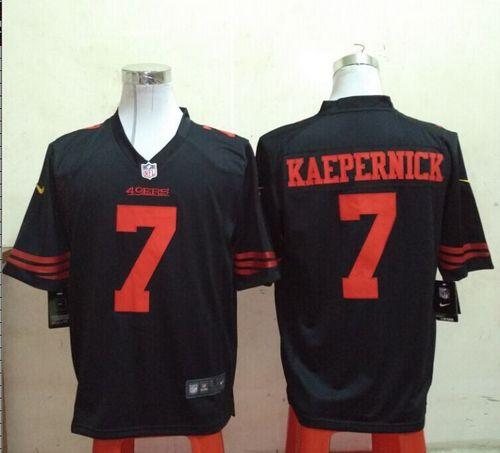 6cfcca9bc Nike 49ers  7 Colin Kaepernick Black Alternate Men s Stitched NFL ...