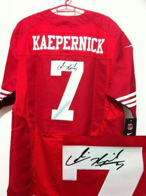 pretty nice 00876 d67c4 Nike 49ers #7 Colin Kaepernick Red Team Color Men's ...