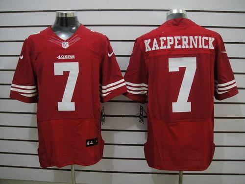 pretty nice 9ec47 58e1a Nike 49ers #7 Colin Kaepernick Red Team Color Men's ...
