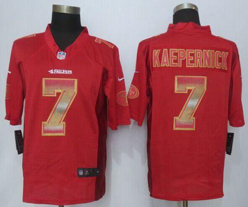 buy online 74514 f8db5 Nike 49ers #7 Colin Kaepernick Red Team Color Men's Stitched ...