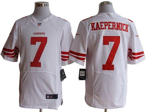check out 68373 4b41c Nike 49ers #7 Colin Kaepernick White Men's Embroidered NFL ...